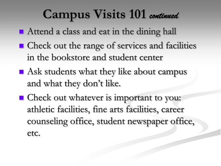 Campus Visits 101