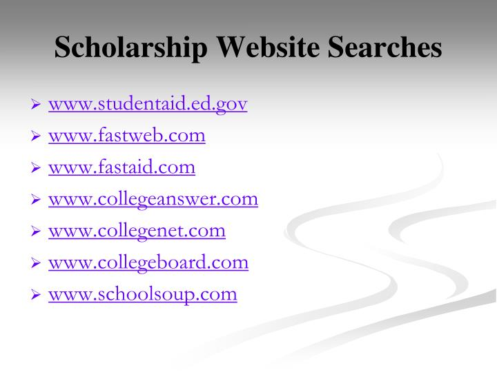 Scholarship Website Searches
