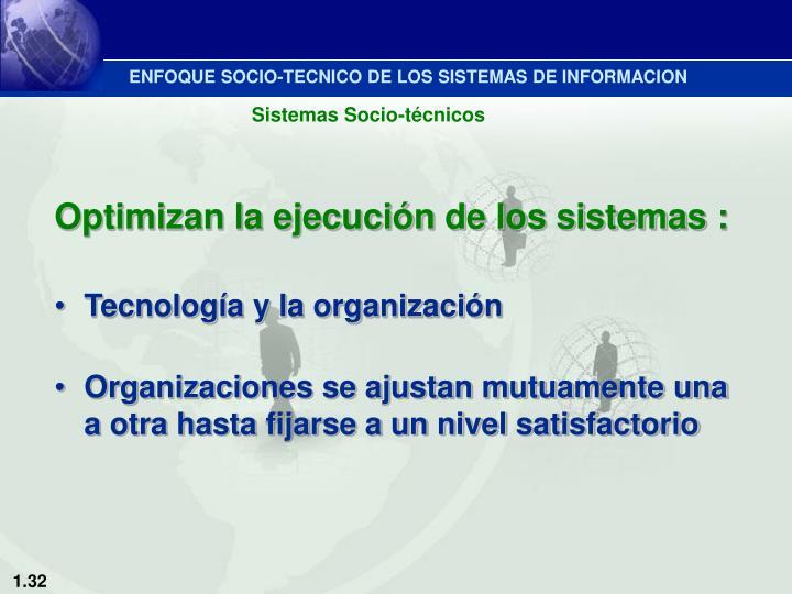ENFOQUE SOCIO-TECNICO DE LOS SISTEMAS DE INFORMACION