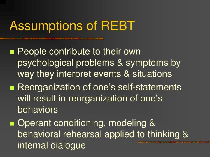 Assumptions of REBT