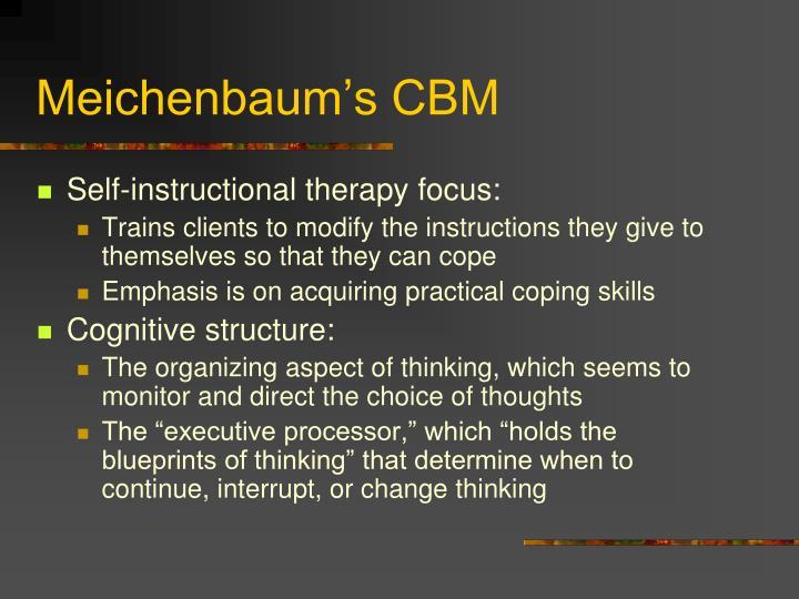 Meichenbaum's CBM