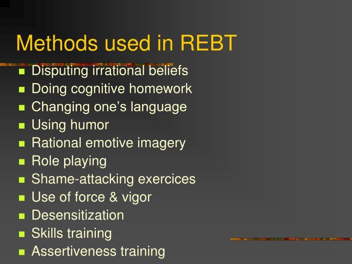 Methods used in REBT