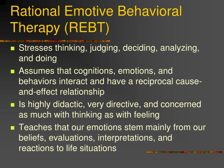 Rational emotive behavioral therapy rebt