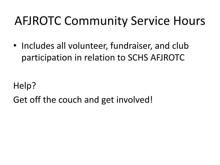 AFJROTC Community Service Hours