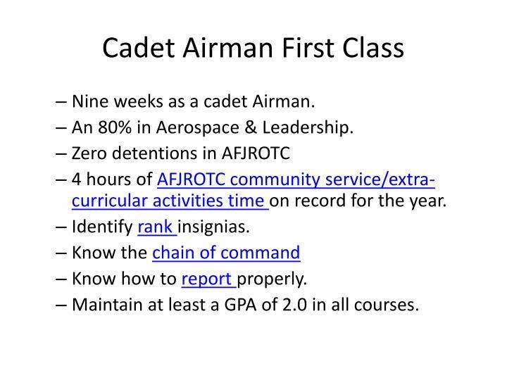 Cadet Airman First Class