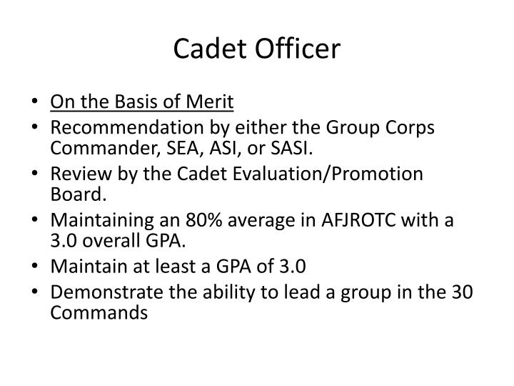 Cadet Officer