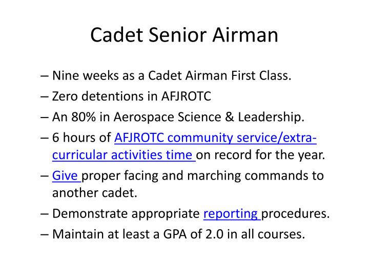 Cadet Senior Airman