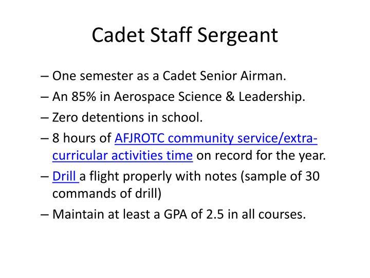 Cadet Staff Sergeant