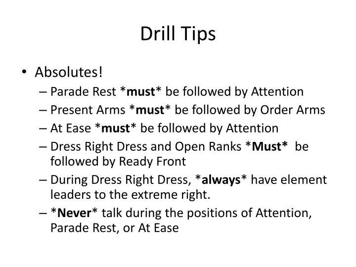 Drill Tips