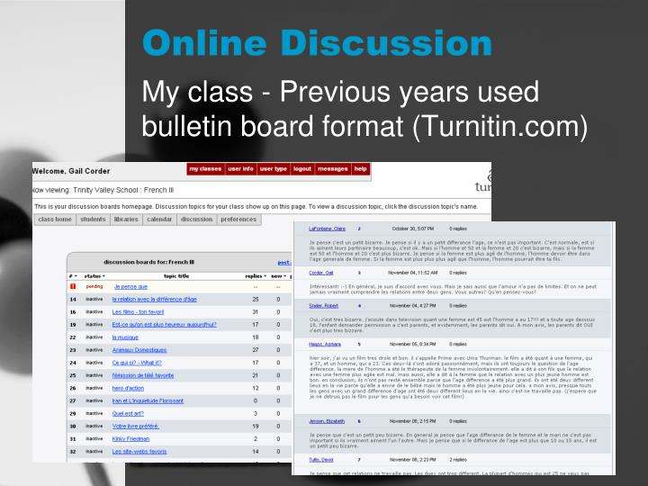 Online Discussion