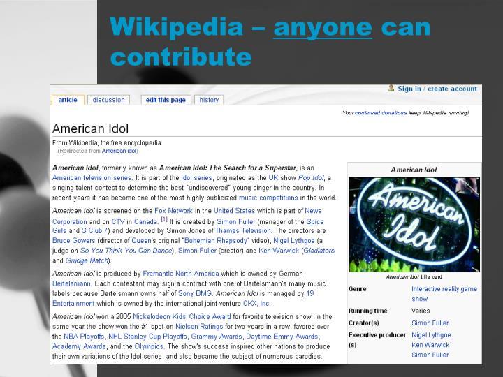 Wikipedia –