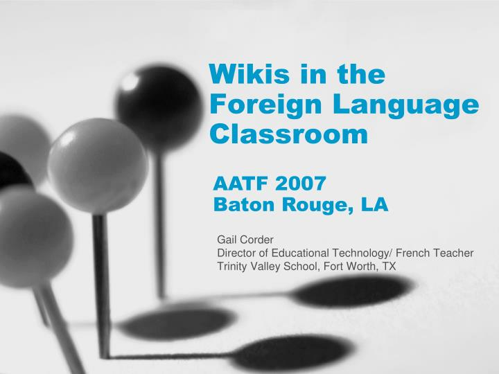 wikis in the foreign language classroom