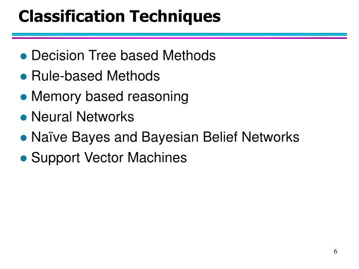 Classification Techniques