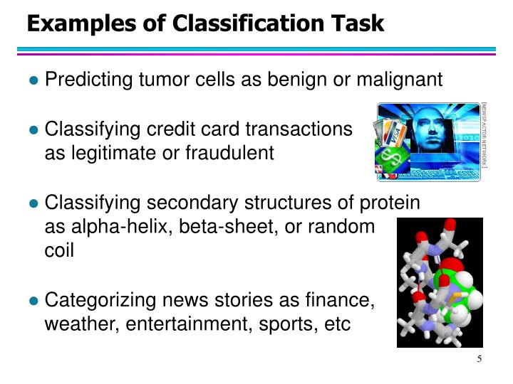 Examples of Classification Task