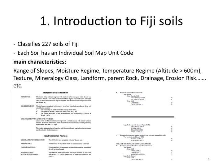 1. Introduction to Fiji soils