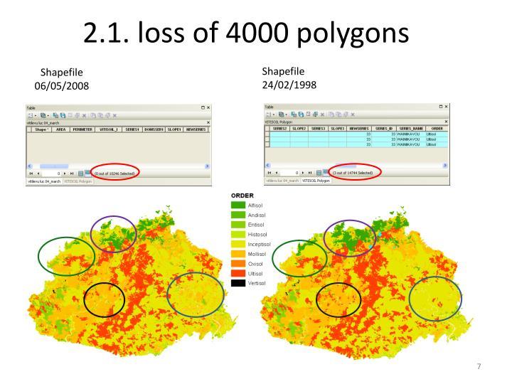 2.1. loss of 4000 polygons