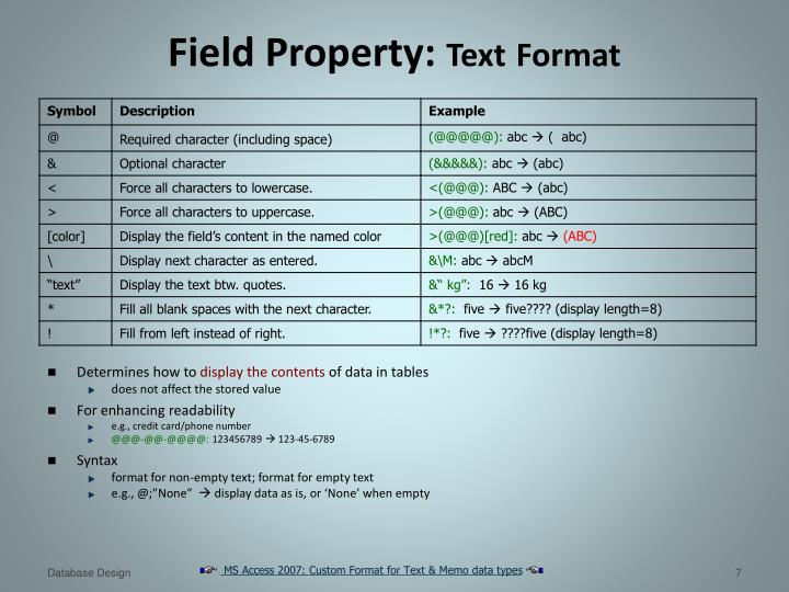 Field Property:
