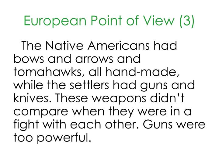 European Point of View (3)