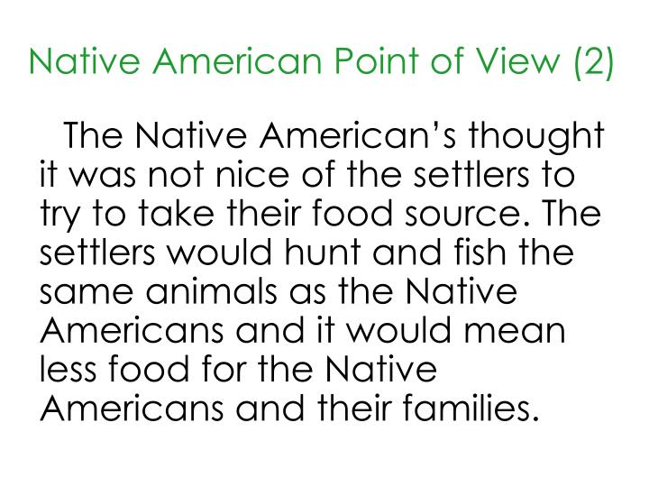 Native American Point of View (2)