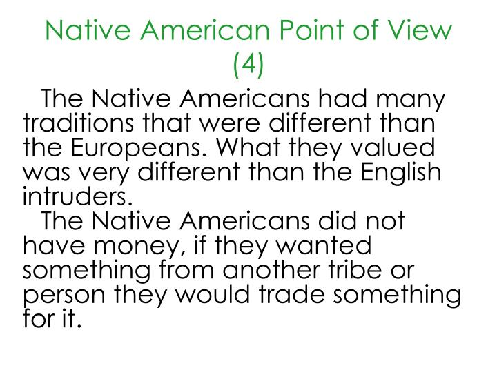 Native American Point of View (4)