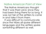 native american point of view