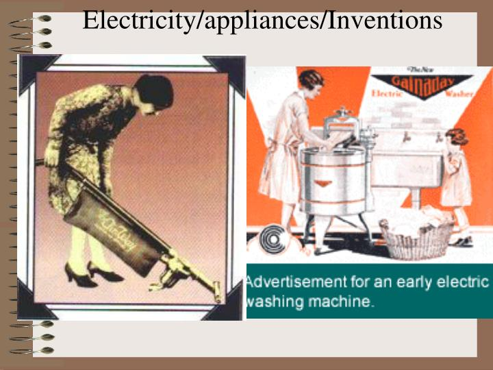 Electricity/appliances/Inventions