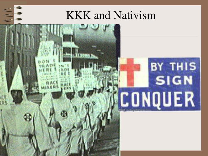 KKK and Nativism
