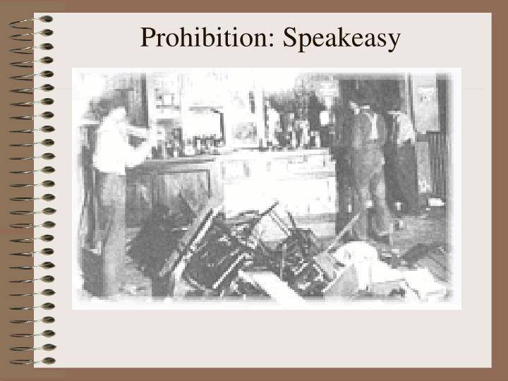 Prohibition: Speakeasy