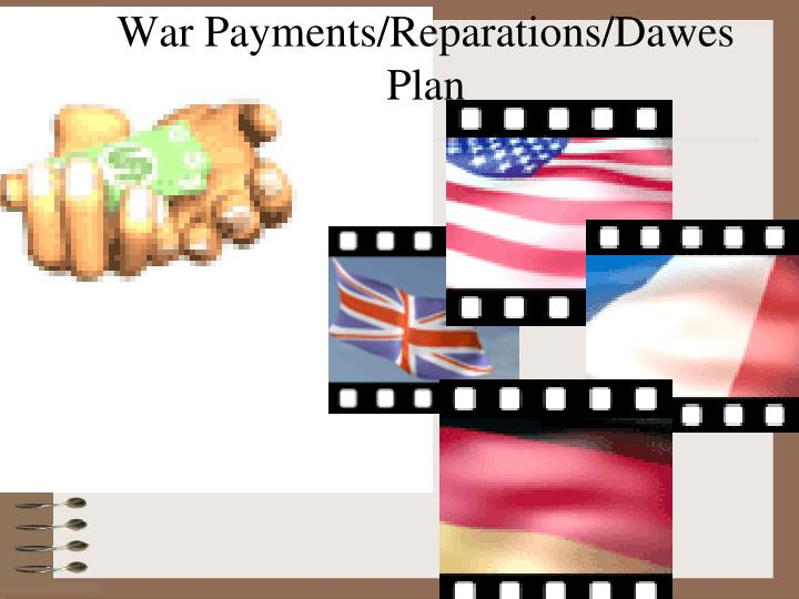 War Payments/Reparations/Dawes Plan