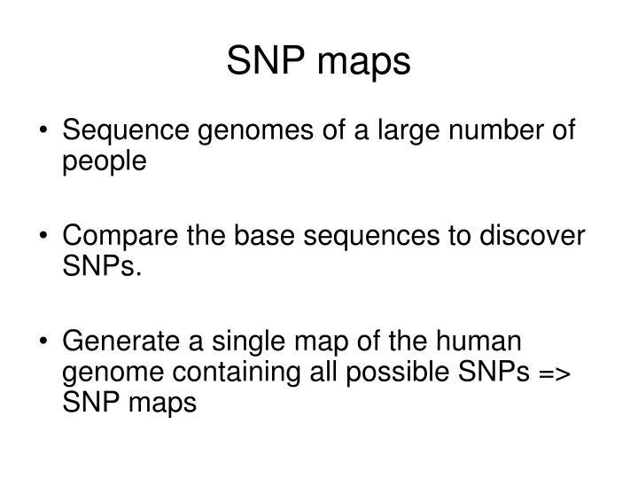 SNP maps