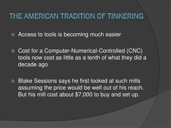 The American Tradition of Tinkering