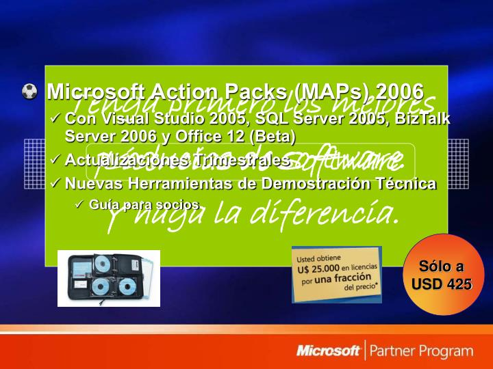 Microsoft Action Packs (MAPs) 2006