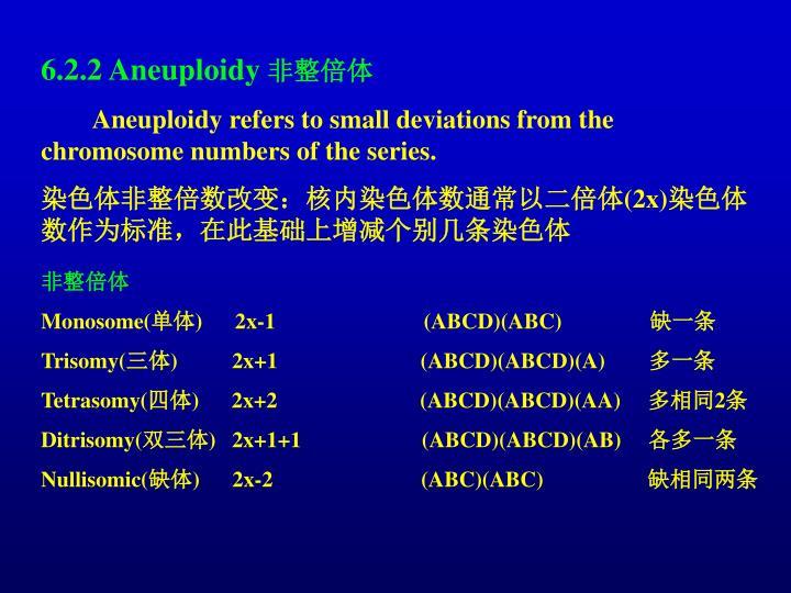 6.2.2 Aneuploidy