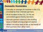 domestic homicides