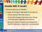 double abc x model