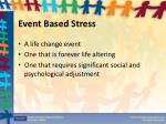 event based stress