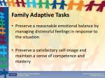family adaptive tasks1