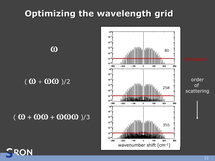 Optimizing the wavelength grid