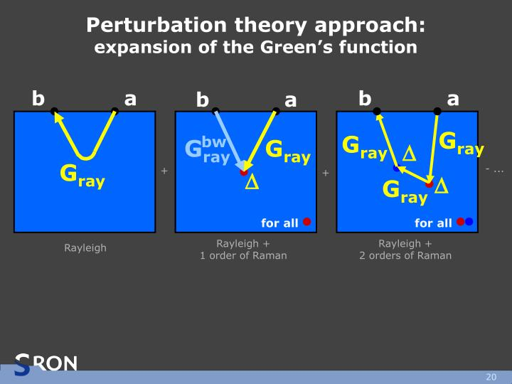 Perturbation theory approach: