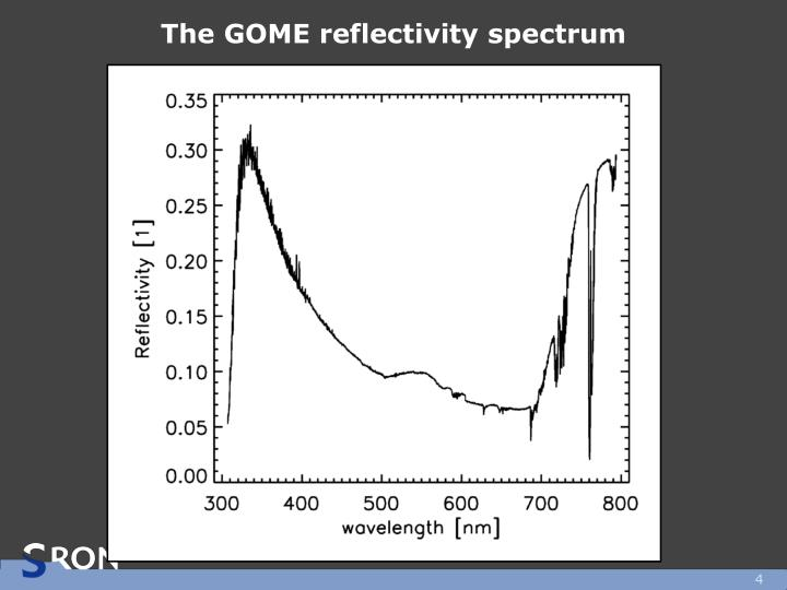 The GOME reflectivity spectrum