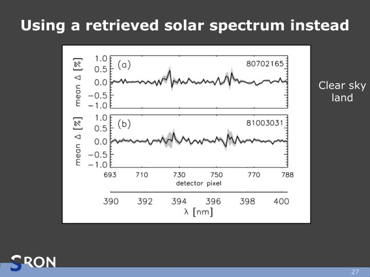 Using a retrieved solar spectrum instead