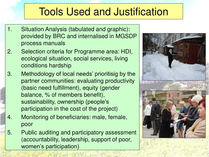 Tools Used and Justification