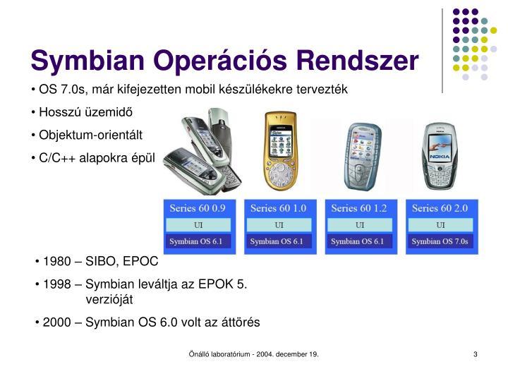 Symbian Operációs Rendszer