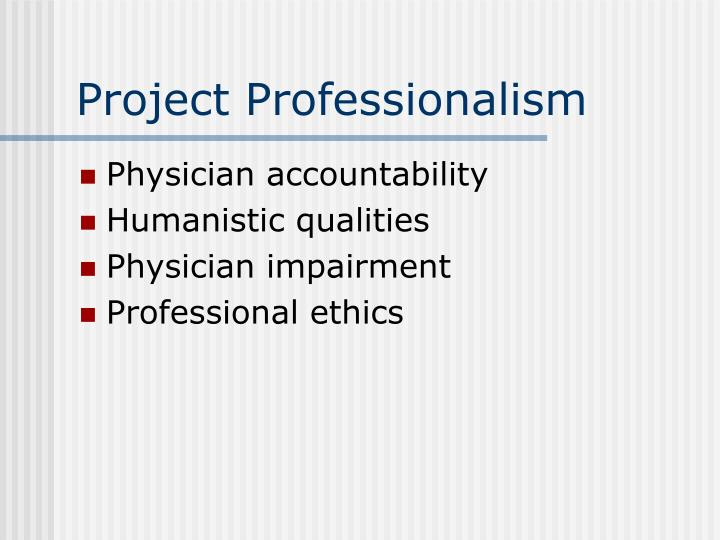 Project Professionalism