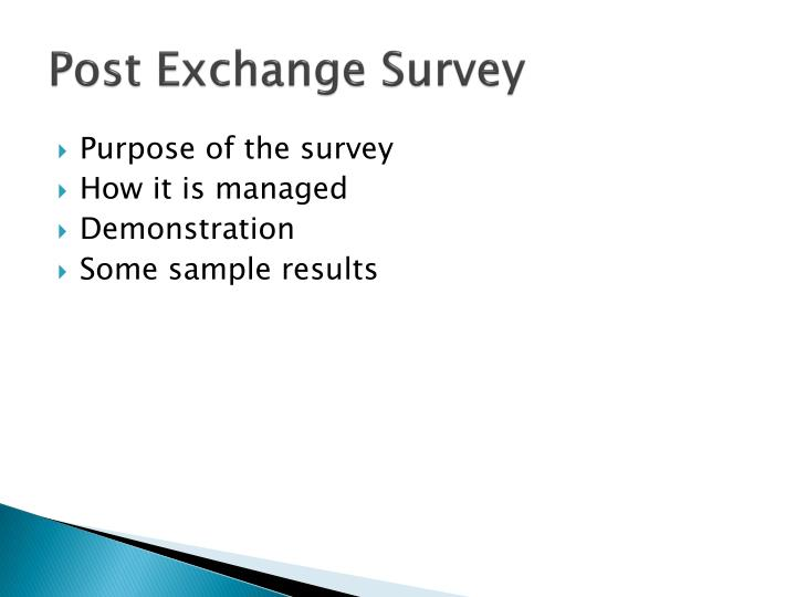 Post exchange survey1