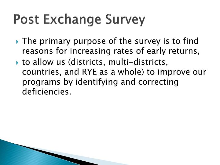 Post exchange survey2