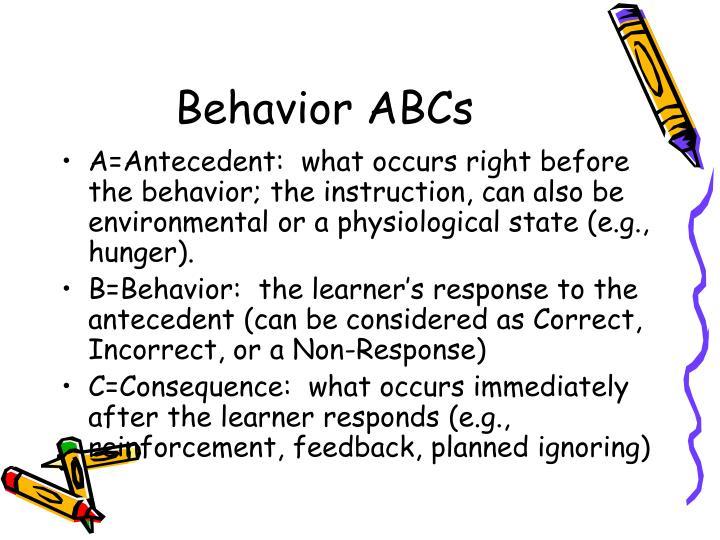Behavior ABCs