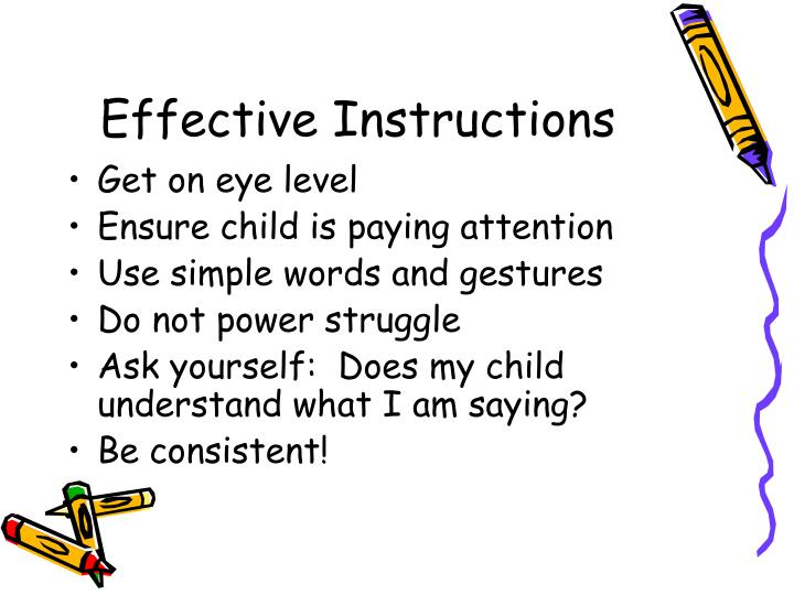 Effective Instructions