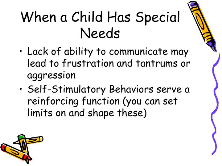 When a Child Has Special Needs