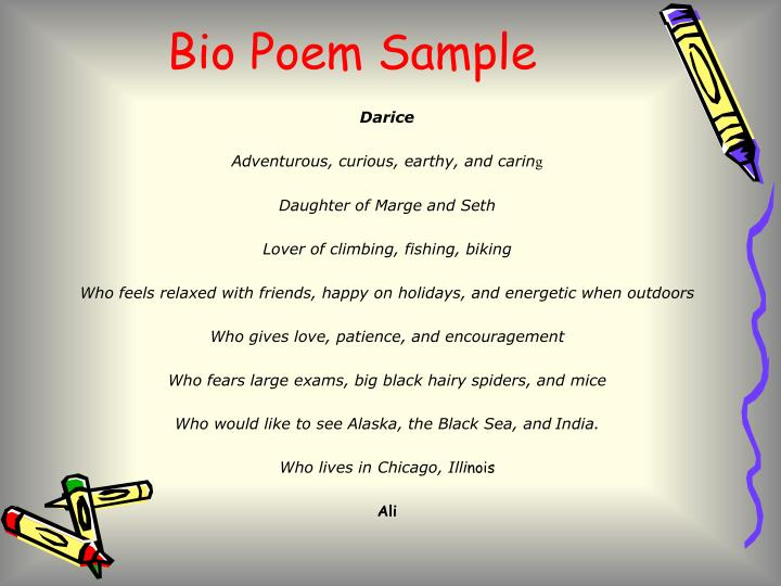 Bio Poem Sample